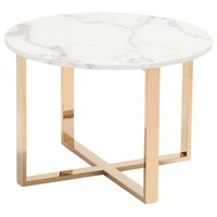 ZUO Modern Globe End Table Stone & Gold 100655 Living Table