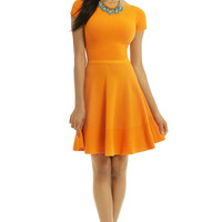 No. 21 Out Of This World Orange Dress