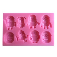 Despicable Me Minions Fondant Cake Molds Soap Chocolate Mould For The Kitchen Baking- C333