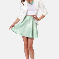 Flecks and the City Mint and Gold Skirt
