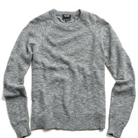 Cotton Crewneck Sweater in Charcoal