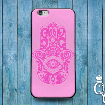 iPhone 4 4s 5 5s 5c 6 6s plus iPod Touch 4th 5th 6th Generation Cool Pink Custom Hamsa Henna Hand Artistic Cover Cute Amazing Fun Phone Case