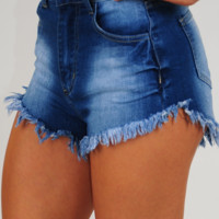 One Good Love Shorts: Denim