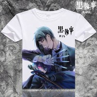 Black Butler Short Sleeve Anime T-Shirt V7