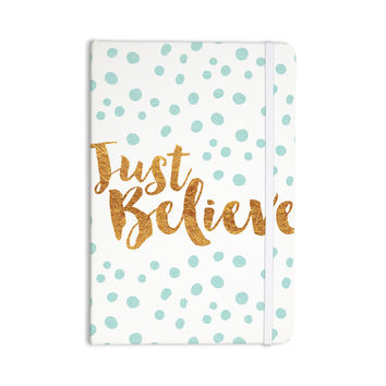 """Nick Atkinson """"Just Believe"""" White Gold Everything Notebook"""
