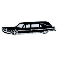 Hearse Car Patch Psychobilly Funeral Applique