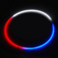 """24"""" Lumistick Glow Stick Necklaces Tri-Color RED WHITE and BLUE (50 necklaces)"""