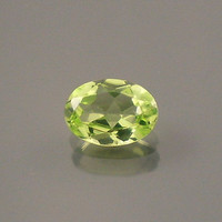 Peridot: 0.69ct Green Oval Shape Gemstone, Natural Hand Made Faceted Gem, Acrylic Charm Supply, Artistic Designer, DIY Wire Wrapping 20115