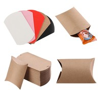 10pcs Kraft Paper Pillow Candy Box Wedding Favors Gift Candy Boxes Home Party Birthday Supply DIY  Paper Candy Boxes