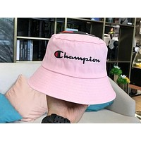 Champion 2019 new men and women wild casual visor fisherman hat pink