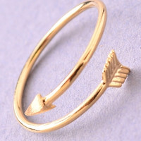 Thin Wrap Around Arrow Ring - Gold, Silver or Rose Gold