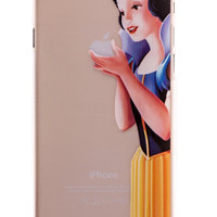 Snow White Transparent Back Cover Case for iPhone 6 Plus