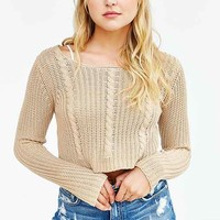 UNIF X UO Cropped Cable-Knit Sweater