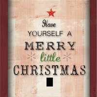 "Have yourself a merry little Christmas framed wooden sign 13""x16""x2"""