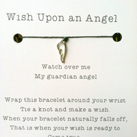 Wish Upon an Angel, Guardian Angel Charm, Protection, Guidance, Best Friend Gift Idea