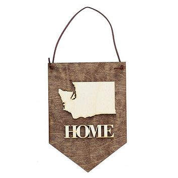 Home - Custom State Sign - Wall Hangings - Washington State - Gift Ideas for Men - Office Decor Sign - Stocking Stuffers - Housewarming Gift