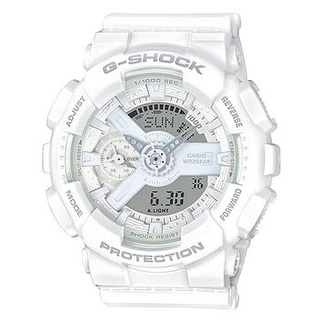 Casio Womens G-Shock S Series - White Case & Strap - 200m - Stopwatch - Day/Date