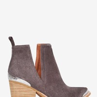 Jeffrey Campbell Cromwell Suede Bootie - Gray