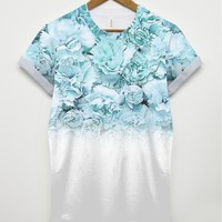Blue Carnation All Over T Shirt
