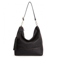 Sole Society Emmie Perforated Hobo W/ Tassel
