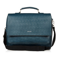 Dark turquoise flap over bag - just arrived - men