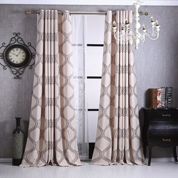 Jacquard Curtains for Living Room Modern Bedroom Decorations Striped home Window Treatments Luxury Drapes Panel (A122)
