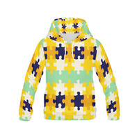 Puzzle pieces All Over Print Hoodie for Men (USA Size) (Model H13) | ID: D1438735