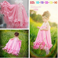 Newest Summer Kid Children Girls Lace Floral Party Princess Dress One-piece = 1957996164