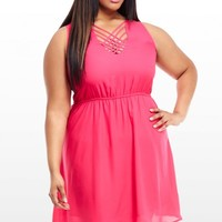 Plus Size Ella Woven Bodice Day Dress | Fashion To Figure