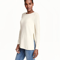 MAMA Wool-blend Nursing Top - from H&M