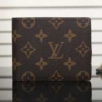 LV trend retro women's short canvas messenger bag