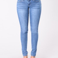 Let's Get Carried Away Jeans - Medium