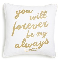 Levtex 'Forever Always' Accent Pillow - Metallic