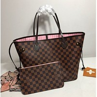 LV Louis Vuitton Classic Hot Sale Two-Piece Shoulder Bag Shopping Bag Full of Printed Letters