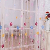 Soft sheer tulle curtains for bedroom stars window children Curtains for Living Room kitchen curtains tulles sheers