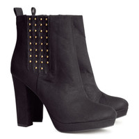 Imitation Suede Boots - from H&M