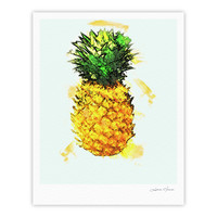 "Oriana Cordero ""Slice of Summer"" White Yellow Fine Art Gallery Print"