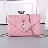YSL Women Shopping Bag Leather Chain Satchel Shoulder Bag Crossbody H
