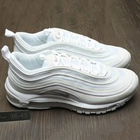 Tagre™ Nike Air Max 97 Women Men Running Sport Casual Shoes Sneakers White G-A0-HXYDXPF