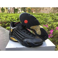 Air Jordan 14 DMP Black Gold Basketball  40-47