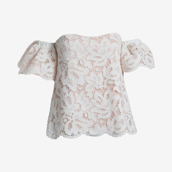 ALEXIS OFF THE SHOULDER LACE TOP