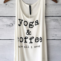 Yoga and Coffee Tank Top