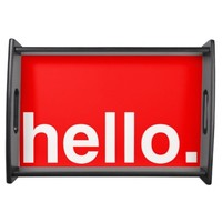 HELLO Typography Serving Tray