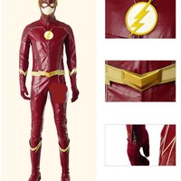 Superhero The Flash Costume With Boots