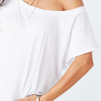 Truly Madly Deeply Off-The-Shoulder Tee | Urban Outfitters
