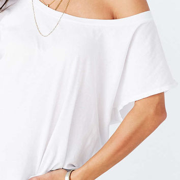 Truly Madly Deeply Off-The-Shoulder Tee   Urban Outfitters