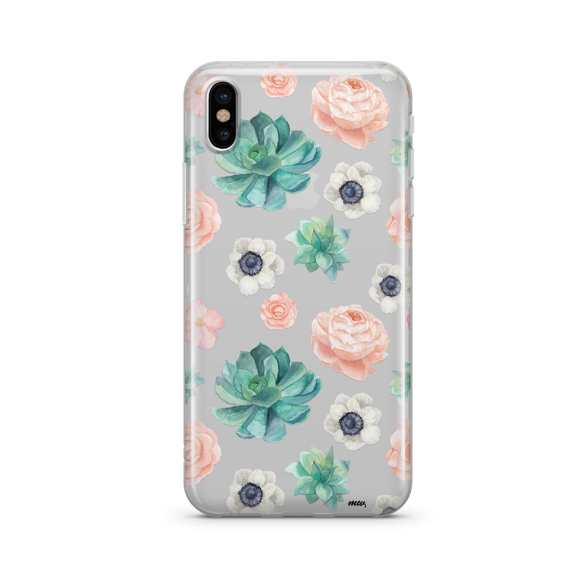 Image of Succulent Overload - Clear TPU Case Cover