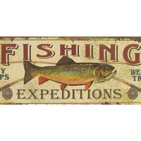 Fishing Expeditions Tin Sign | Shop Hobby Lobby