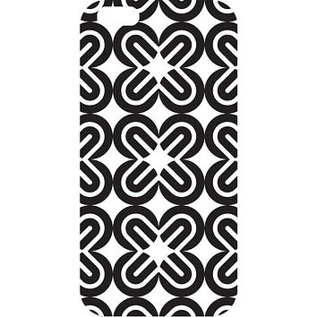 OTM iPhone 6 White Glossy Case Black-White Collection, Mirrors