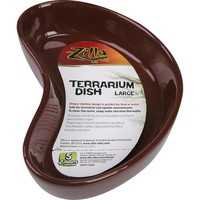 Zilla Reptile Terrarium Food & Water Ceramic Dish Sz: Large